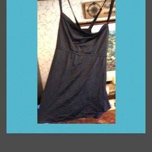 Other - NWOT Criss cross 1X black swimsuit top.